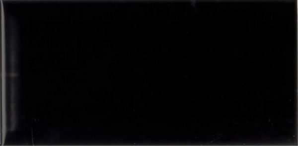 Metro Subway Black Bevelled Shiny 10cm x 20cm