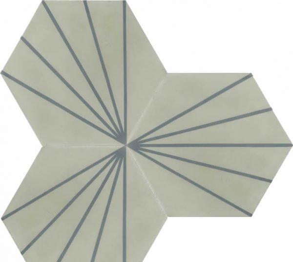 Moroccan Encaustic Cement Hexagonal Artic 16