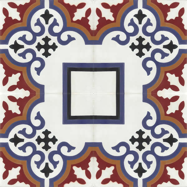 Moroccan Encaustic Cement Pattern 102c