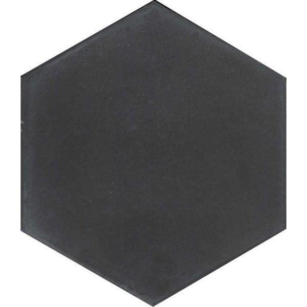 Moroccan Encaustic Cement Hexagonal Artic 11 Charcoal