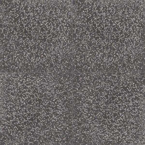 Moroccan Encaustic Cement Black Terrazzo