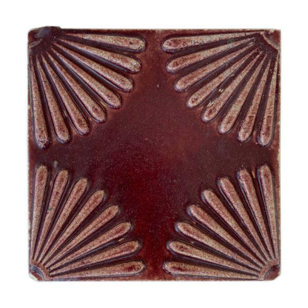 Zellige Daisy Red 15cm x 15cm