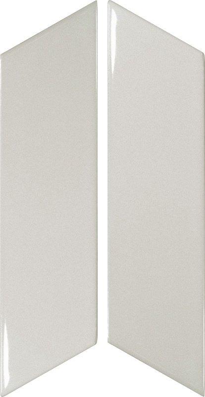 Chevron Light Grey Left 18.6cm x 5.2cm