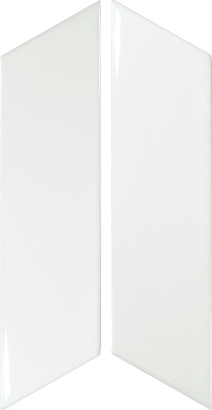 Chevron White Left 18.6cm x 5.2cm