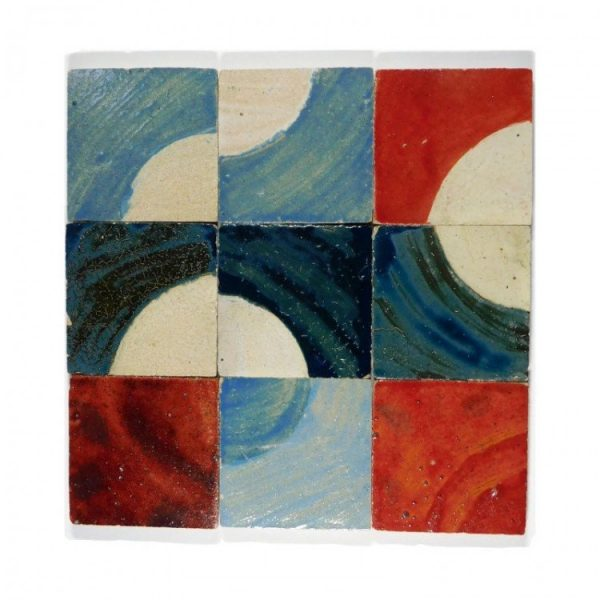 Zellige Circle Colour Mixed 10cm x 10cm