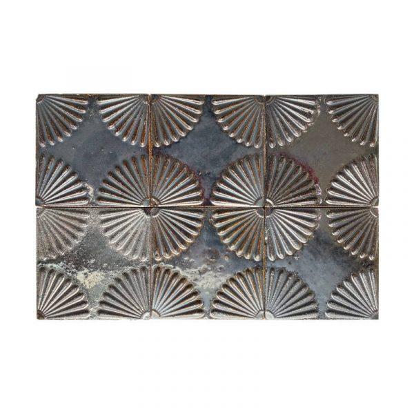 Zellige Daisy Iron Copper 15cm x 15cm