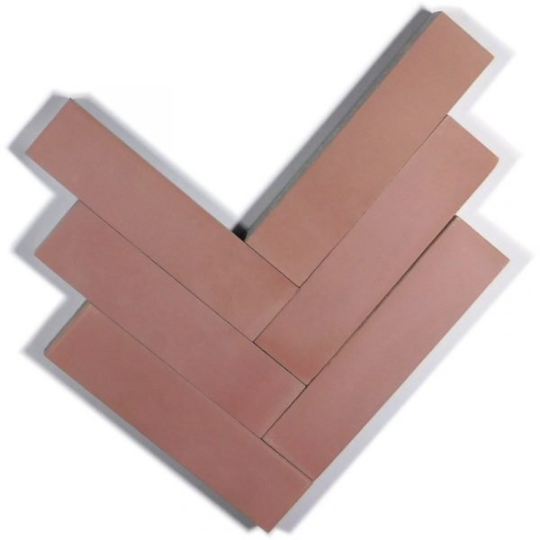 Moroccan Encaustic Cement Dusty Pink 5cm x 20cm