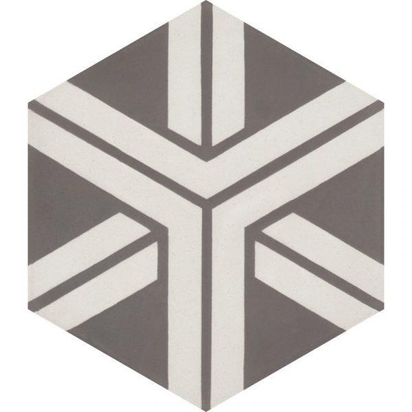 Moroccan Encaustic Cement Hexagonal Artic 14b