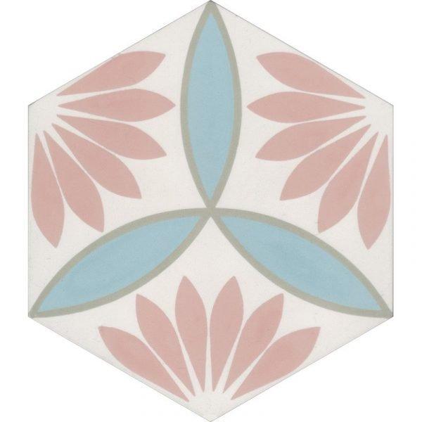 Moroccan Encaustic Cement Hexagonal Petal 01