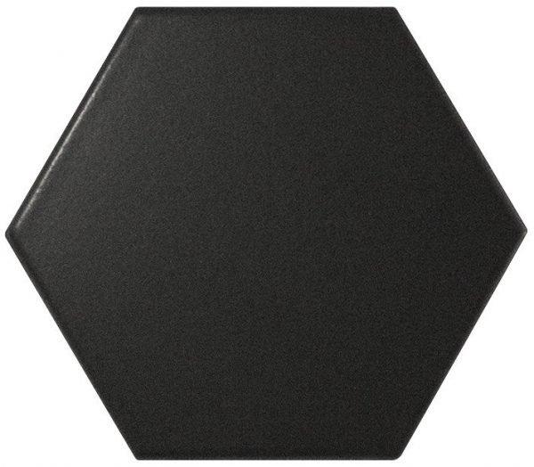 Scale Hexagonal Black 11.6cm x 10.1cm