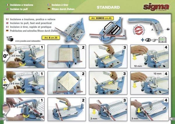 Sigma Tile Cutter Standard 33cm