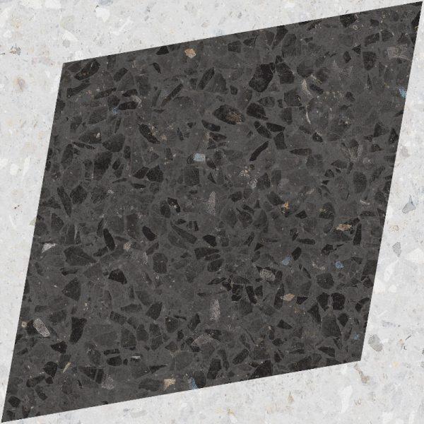 Drops Natural Rhombus Decor Graphite 18.5cm x 18.5cm