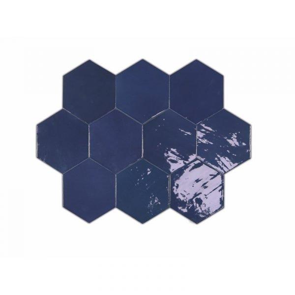 Fabricated Zellige Hexa Cobalt 10.8cm x 12.4cm