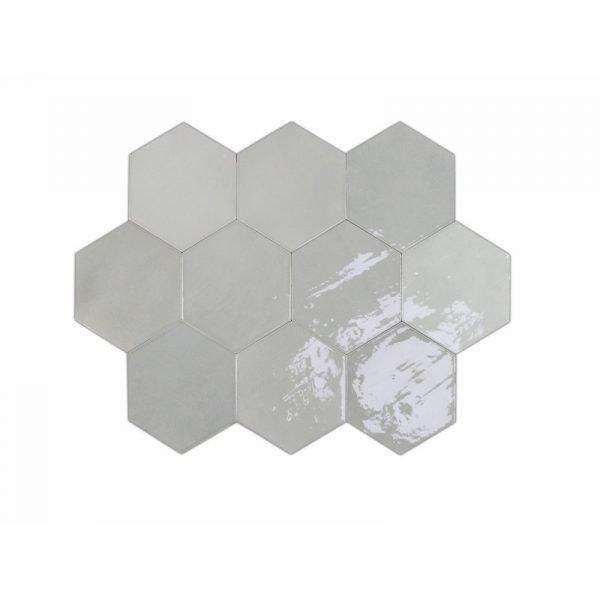 Fabricated Zellige Hexa Grey 10.8cm x 12.4cm