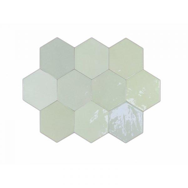 Fabricated Zellige Hexa Mint 10.8cm x 12.4cm