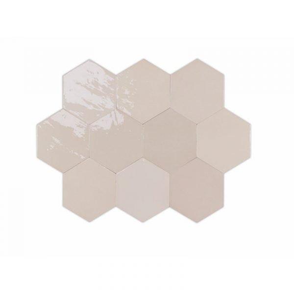 Fabricated Zellige Hexa Nude 10.8cm x 12.4cm