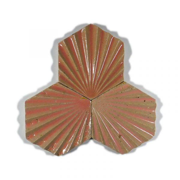 Zellige Hexagonal Scallop Pink 11cm x 12.7cm