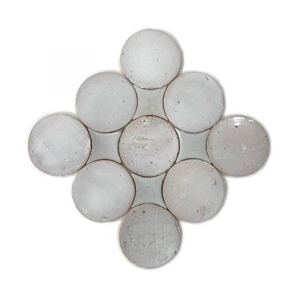 Zellige Circle White 13.5cm