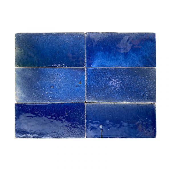 Zellige Dark Blue 15cm x 7.5cm