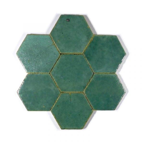 Zellige Hexagonal Turquoise 11cm x 12.7cm