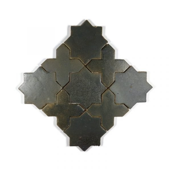 Zellige Star Cross Matt Copper 12cm x 12cm