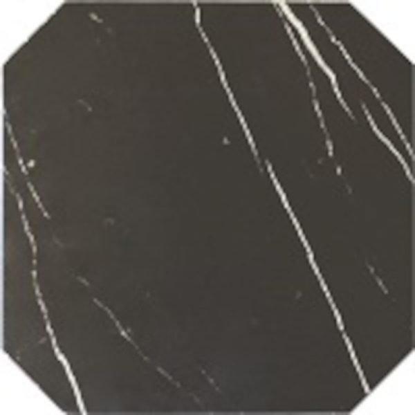 Octagon Marmol Negro 20cm x 20cm